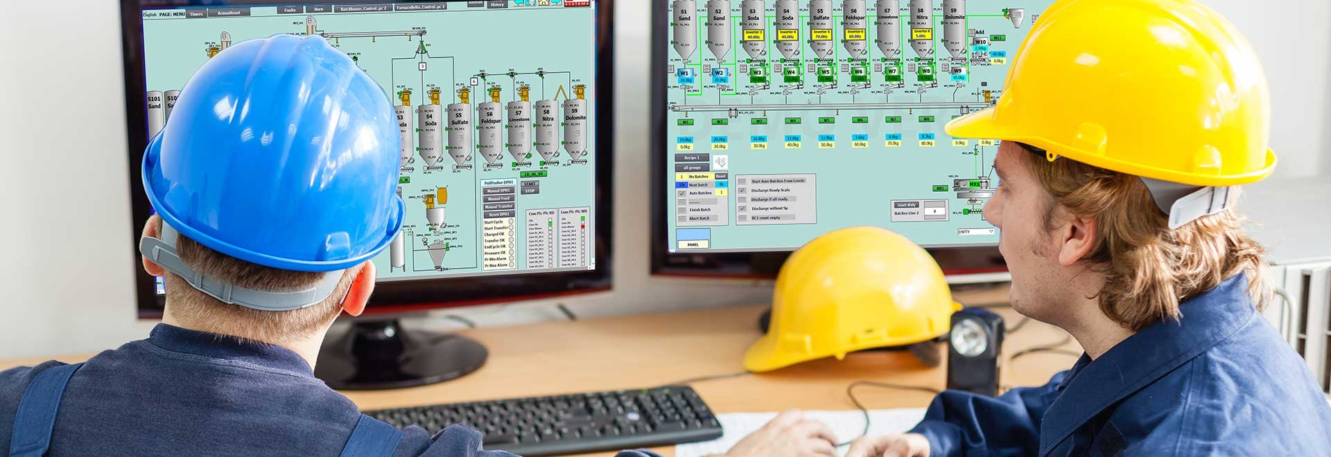 Automation process control for glass industry